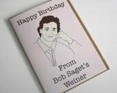 Happy Birthday from Bob Saget's weiner birthday card