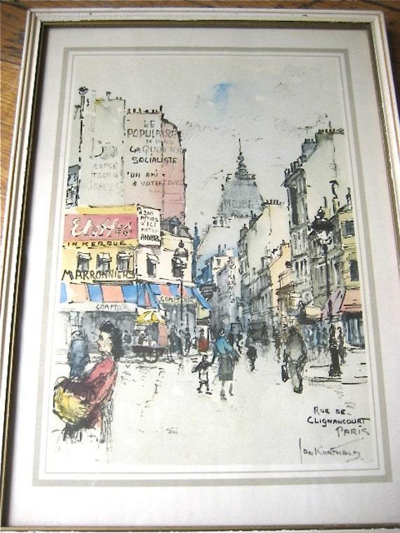 Jan korthals print paris porte de clignancourt art wall - Bureau de change porte de clignancourt ...