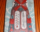 Antique ADMIRAL FITZROY Weather Forecaster SWISS Windmill in Original Box
