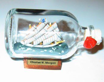 Ship in a Bottle CHARLES W. MORGAN Excellent- From England