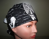 Glow in the dark skeleton ponytail scrub cap