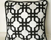 """Waverly Groovy Grille 16"""" Throw Pillow Cover with Piping"""