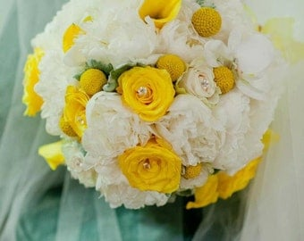 18-Pc Real Fresh Flowers Wedding Package II for a Wedding Party of 17