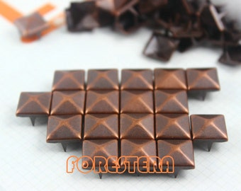 10mm Antique Copper Pyramid Stud Punk Rock Leathercraft Stud (CP10)