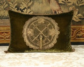 Antique French Applique Pillow