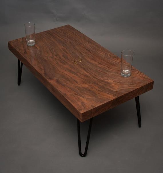 Mid Century Coffee Table Black: Figured Black Walnut COFFEE TABLE Mid Century By ElpisWorks