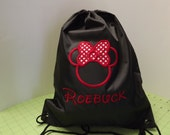 Custom Personalized Embroidered Disney Cinch Backpack Bags