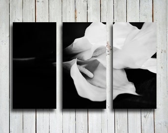 Lillies in Black and White - Calla Lilly Collage - Black and White Collage - Canvas prints - Calla lillies photography - Calla lilly art