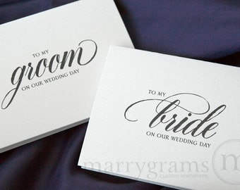 Wedding Card to Your Bride or Groom on Your (Our) Wedding Day - To My Groom on Our Wedding Day - Cute, Sweet Groom Gift Idea - CS04