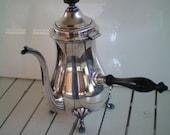 Vintage Crescent Silver Plate Teapot With Bakelite Knob