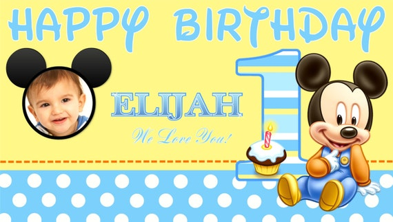 baby mickey mouse 1 year old first birthday v 4 with