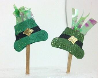 Lephrechaun Top Hat Cupcake Toppers
