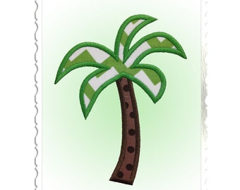Palm Tree Applique Machine Embroidery Design - 4 Sizes