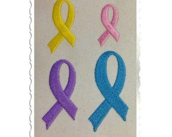 Mini Awareness Ribbon Machine Embroidery Design - 4 Sizes