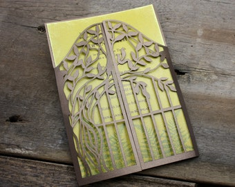 Tree Gate Lasercut