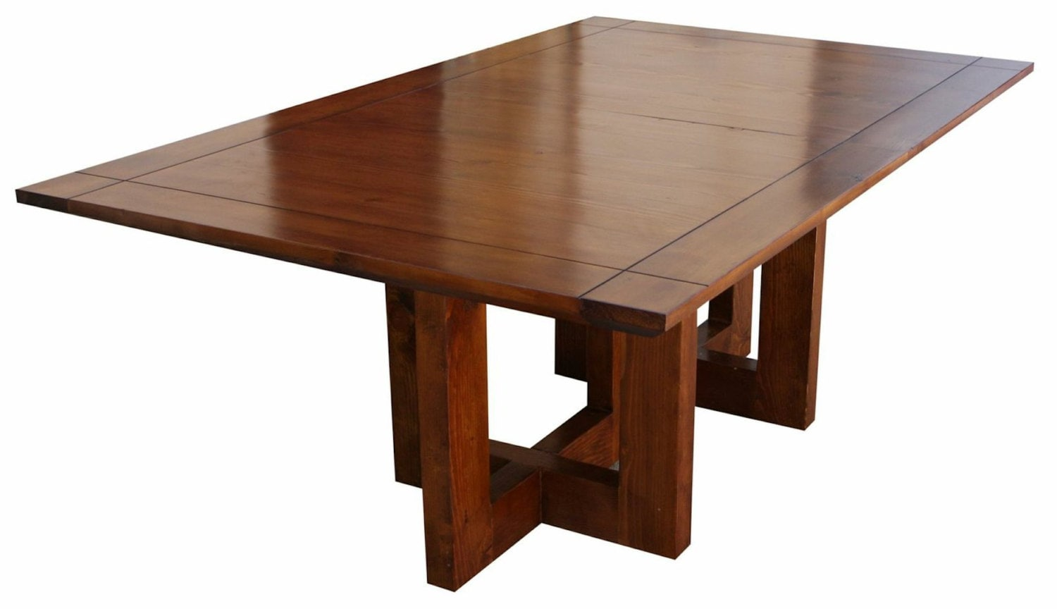 metro modern extension trestle dining table handmade in our. Black Bedroom Furniture Sets. Home Design Ideas
