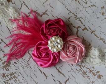 Pink Rosette Headband Disney Princess Inspired Princess Aurora Sleeping Beauty