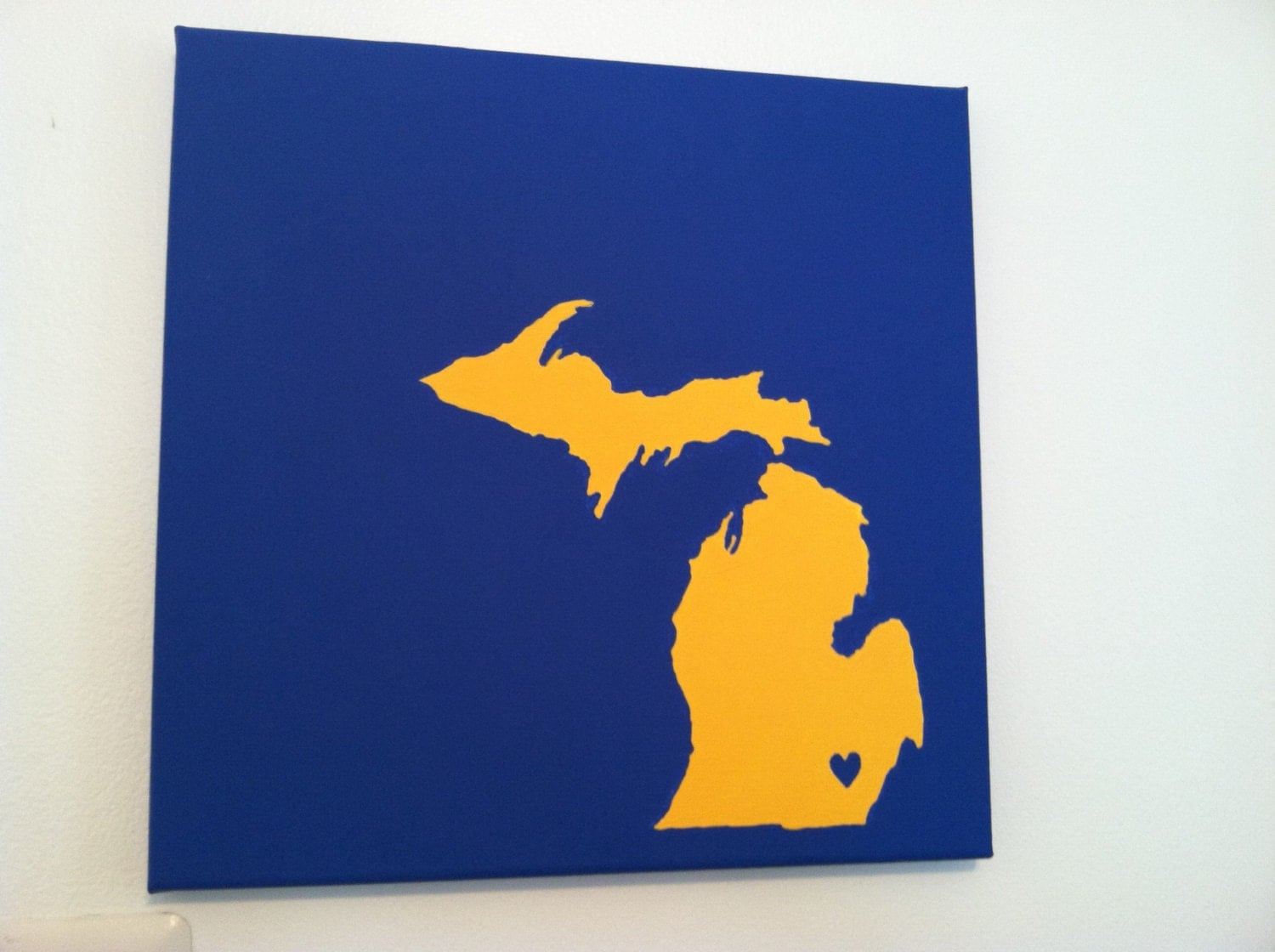 university of michigan love painting 12x12 canvas