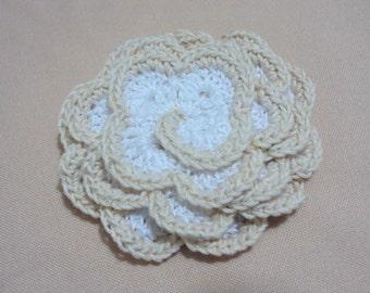 Hand made Flower Tutorial, PDF Crocheted Flowers Pattern, DIY Flower Ornament