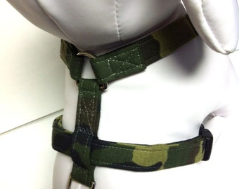 Dog Harness- The Green Camo