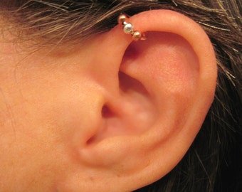 "No Piercing Cartilage Ear Cuff ""Ferris Wheel"" Helix Handmade"