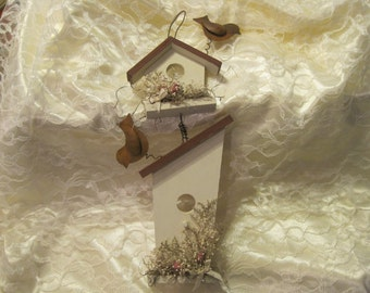 Country Floral Birdhouse Scented Wall Hanging Decor