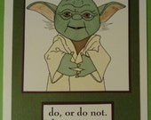 Yoda Birthday or Blank Card