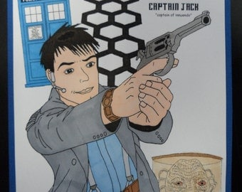 Dr. Who Captain Jack Torchwood Blank Card