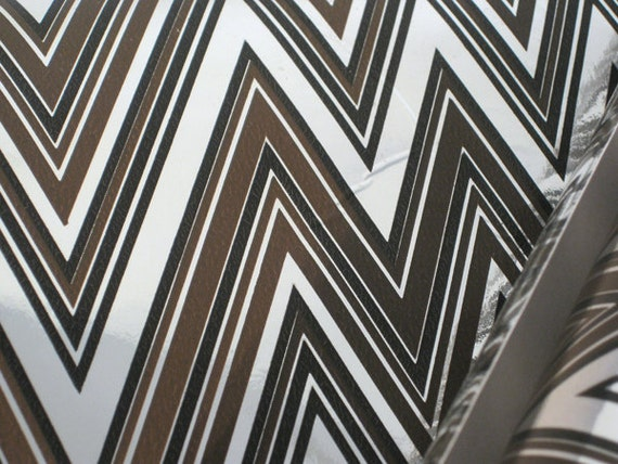 vintage wallpaper metallic chevron brown black by nehiandzotz