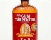 Vintage Amber Bottle T&R Gum Turpentine