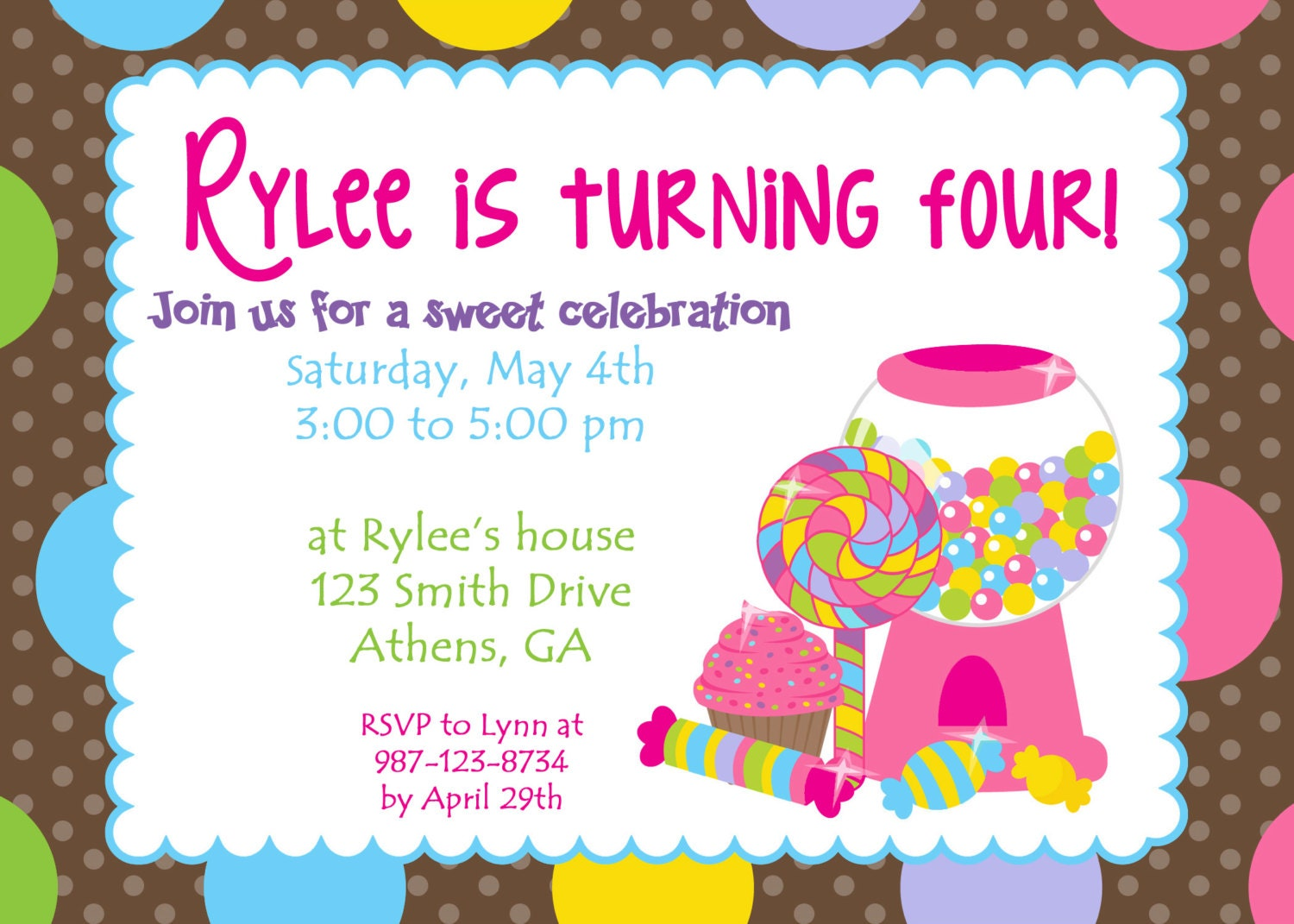 Candyland Invitation Ideas for amazing invitation design