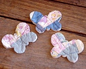 Patchwork Butterfly Appliques Shabby Vintage Cutter Quilt Fabric Embellishments itsyourcountry - ITSYOURCOUNTRY