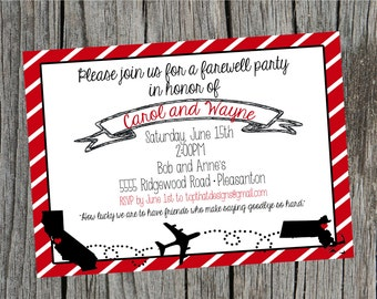 Going Away/Moving Party Invitation- Digital File