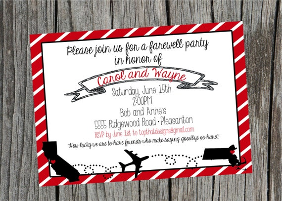 going away moving party invitation digital file. Black Bedroom Furniture Sets. Home Design Ideas