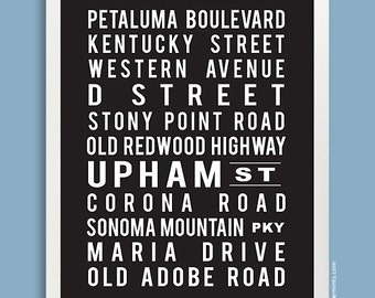 Custom Subway Art Print Personalized Subway Sign Street Names Favorite Cities Anniversary Gift Home Decor