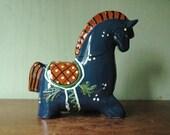 Nittsjo Sweden Ceramic Horse Figurine Designed By Thomas Hellstrom - Mid Century Danish Modernist Animal