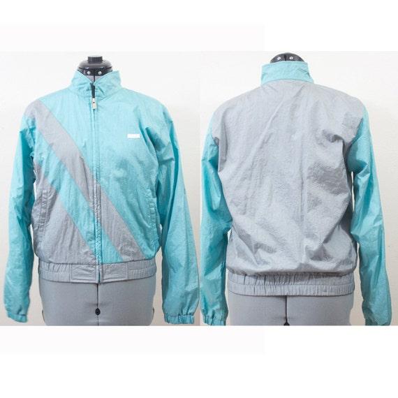 SALE Vintage Retro Mint and Grey Jacket