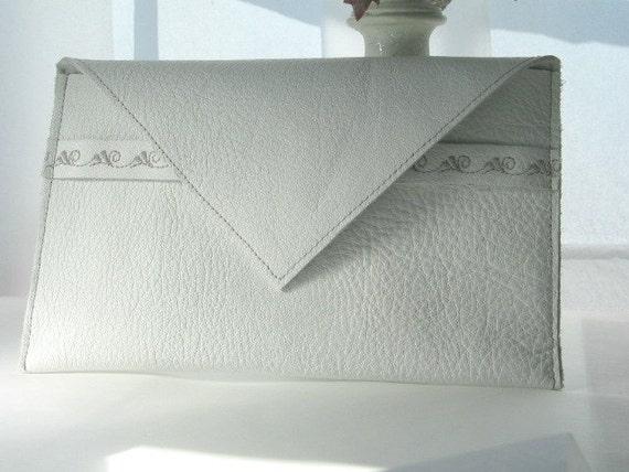Leather Wallet/ Wedding Gift Card Envelope / /White Leather / Bridal ...