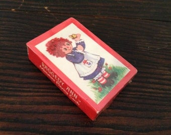 Vintage Miniature Playing Card SEALED Raggedy Ann from Hallmark 1974