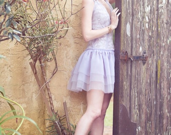Dress - Lilac Organza Dress 50% Off Sale - Last One