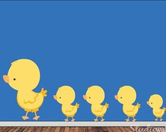 Ducks Decal, Nursery Decal, Baby Decal, Kids Decal