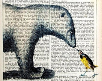 FRIENDS giclee print poster mixed media animal painting