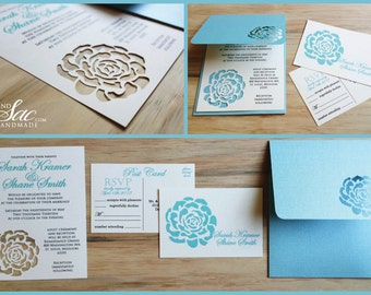 Rose Wedding Invitation - SAMPLE -