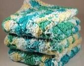 Crocheted Cotton Dishcloths Set of 3