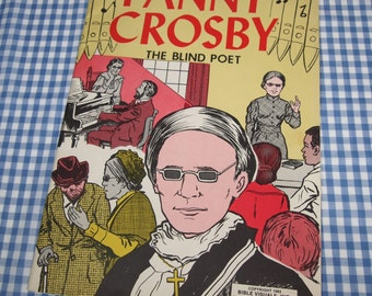fanny crobsy - the blind poet, vintage 1983 children's book
