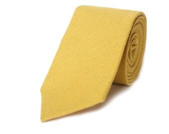 Goldenrod Linen Skinny Tie