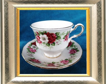 Beautiful Queen Anne Tea Cup and Saucer