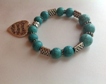 Blue Turquoise Serenity Stretch Bracelet