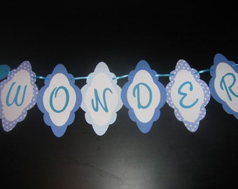 Alice in Wonderland birthday banner