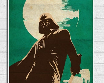Star Wars Darth Vader Vintage Poster Print